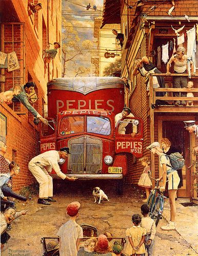 1949 ... Roadblock - Norman Rockwell   by x-ray delta one