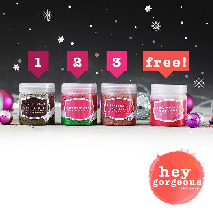 One Two Three Body Scrub Gift Set (SAVE R120) | Hey Gorgeous