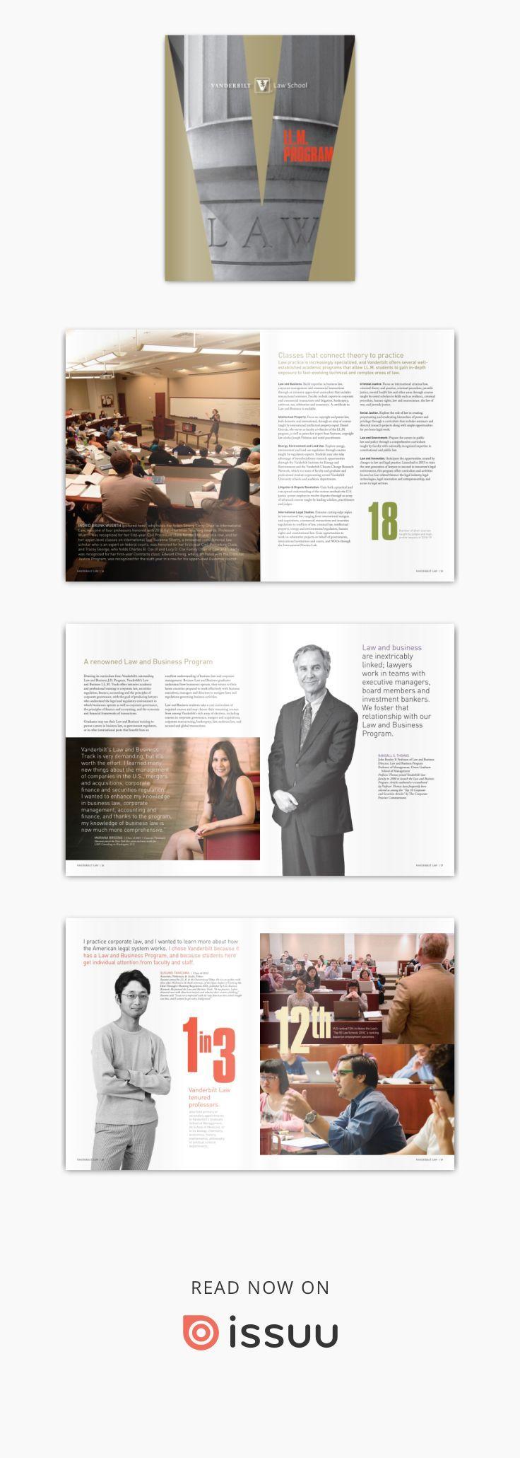 Vanderbilt Law School Ll M Viewbook 2018 Law School Vanderbilt Corporate Law