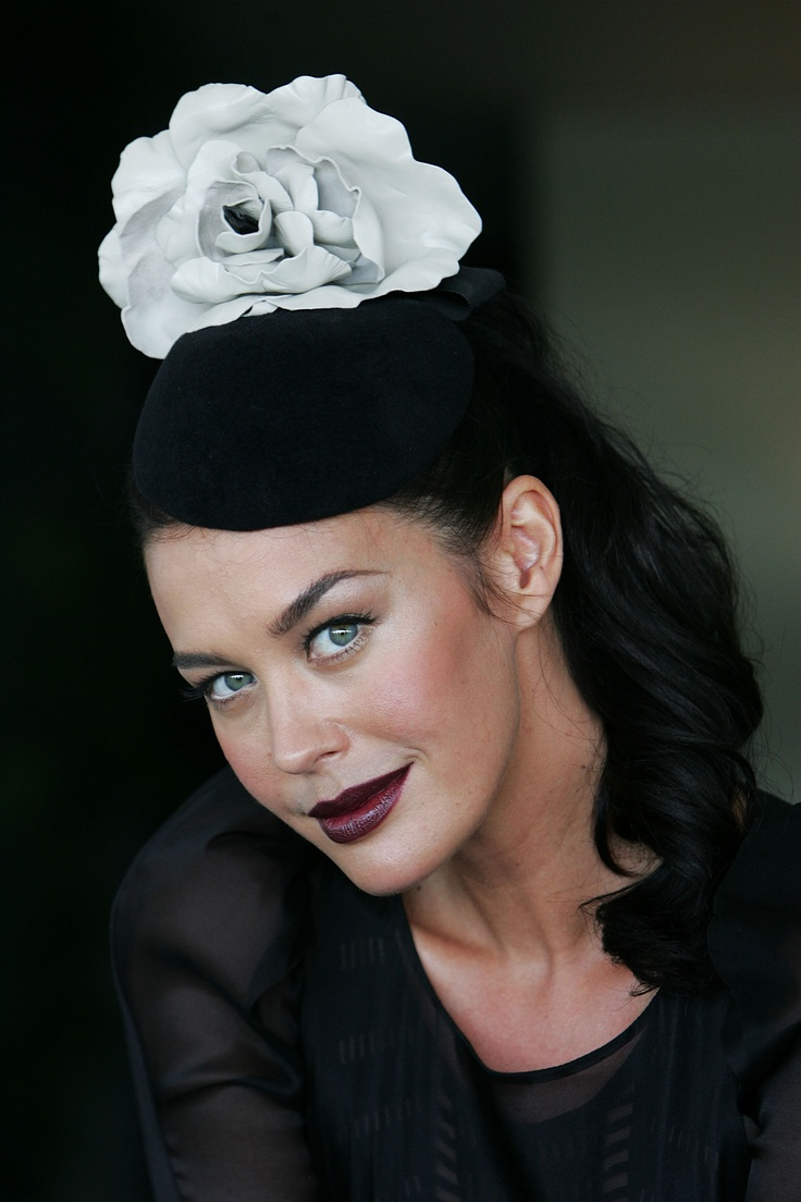 megan gale's pretty hat