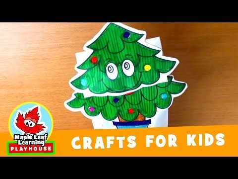 748 Christmas Tree Puppet Craft For Kids Maple Leaf Learning Playhouse Youtube Crafts For Kids Crafts Christmas Art Projects