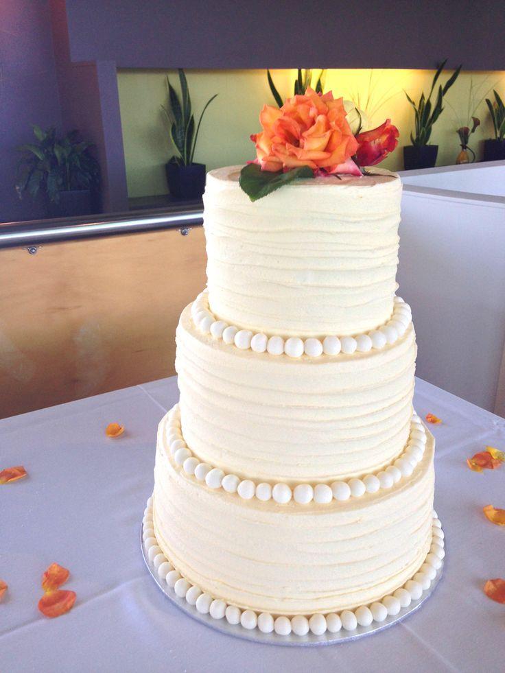 Rustic Buttercream Wedding Cake by Sweet Bakery & Cakery (Wellington, NZ - www.sweetbakery.co.nz)