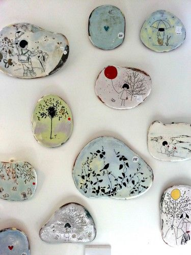 Display of Suet Yi Ceramics Wall Tiles at Itch Gallery