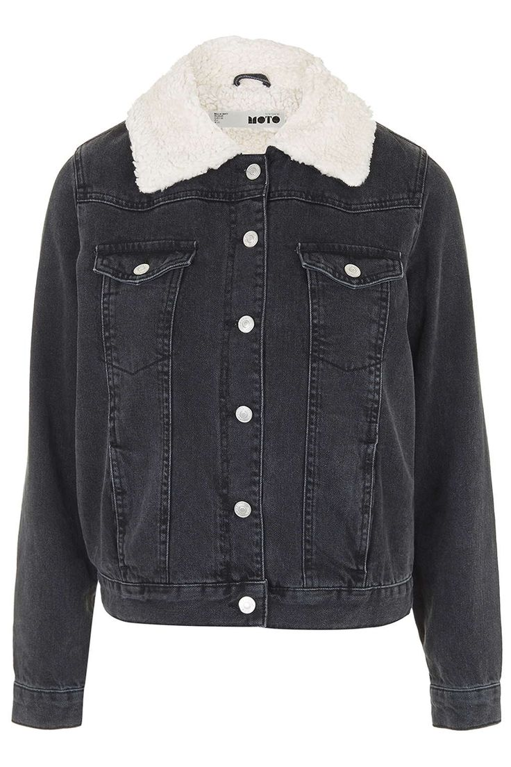TALL Borg Denim Jacket - Topshop