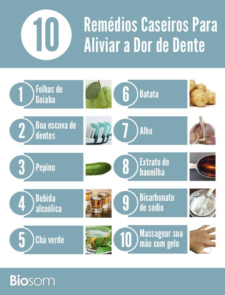 Clique na imagem e veja os 10 remédios caseiros para aliviar a dor de dente…