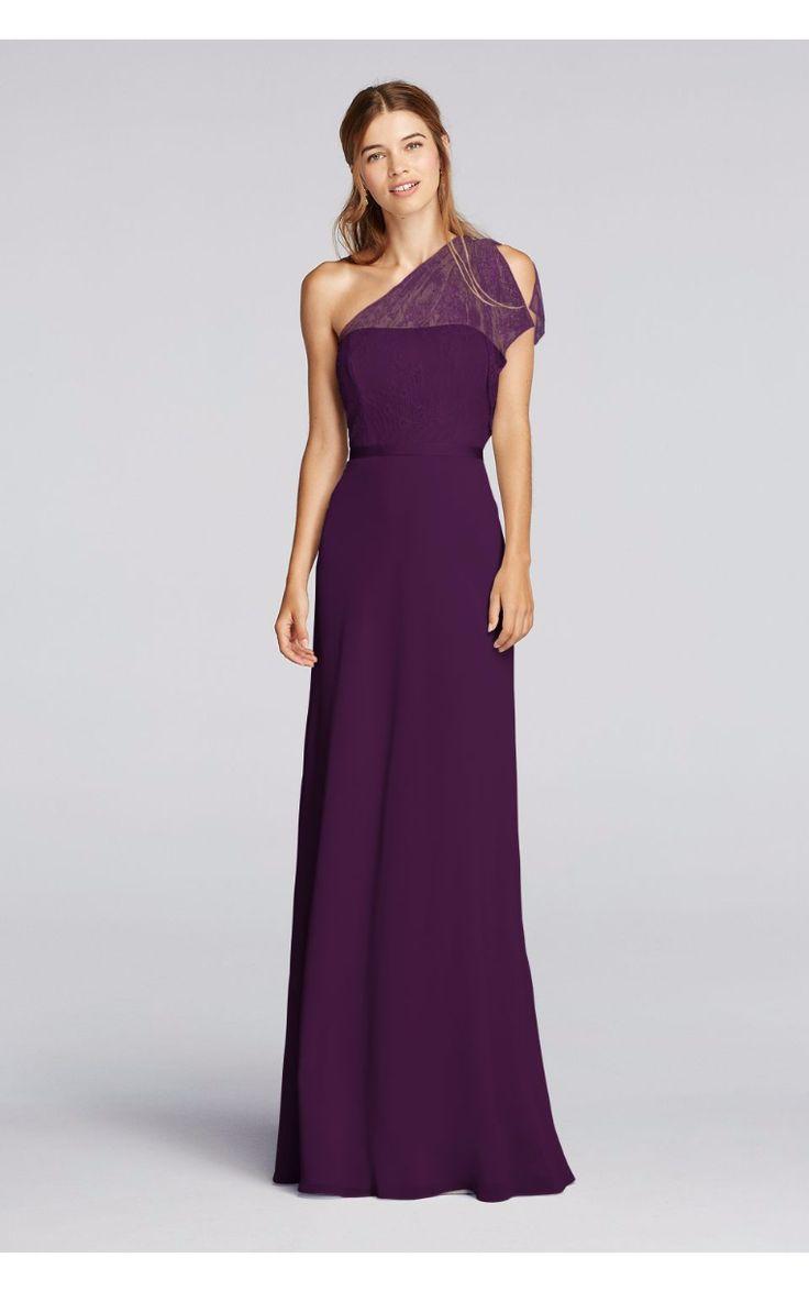 109 best bridesmaid gown images on pinterest bridal dresses graceful one shoulder flutter sleeve long bridesmaid dresses jp291655 by jenny packham ombrellifo Gallery