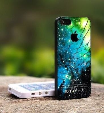 cracked effect galaxy iphone case