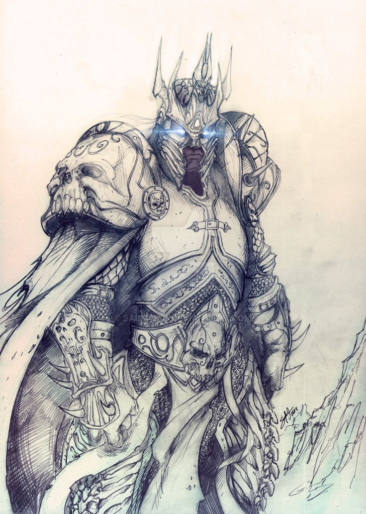 Arthas Menetil the Lich King by SaintYak