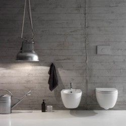 Sanitari Sospesi Ceramica Globo 4ALL WC + BIDET + SEDILE