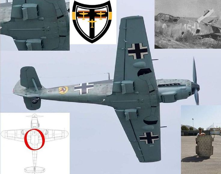 Found! Part of a Bf 109 belonging to JG27 in Rodos, Greece