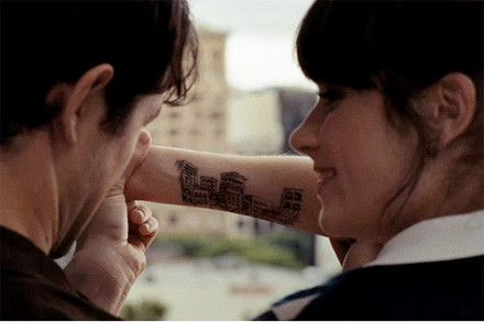 500 days of summer buildings tattoo drawing ink for Architecture drawing 500 days of summer