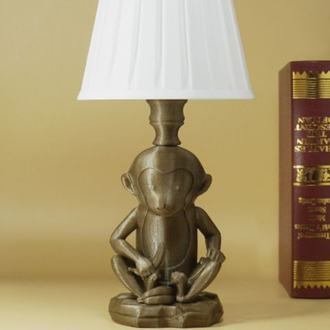 Download on https://cults3d.com #3Dprinting #Impression3D 3D printed Little monkey lamp, Toolmoon