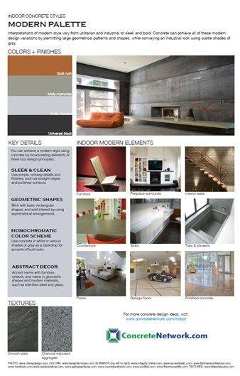 13 best modern indoor concrete styles images on pinterest for Indoor network design
