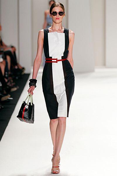 Carolina Herrera - Ready-to-Wear - 2012 Spring-Summer: Fashion, Style, Dresses, Outfit, Carolina Herrera, White, Belt, Spring 2012, Black