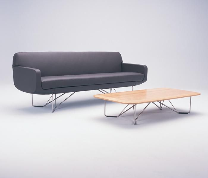 CP1 | UCI Lounge seating. Designed by Charles Wilson. Chair, 2.5 seater, 3 seater, side table and coffee table. Tables are GECA certified. uci.com.au