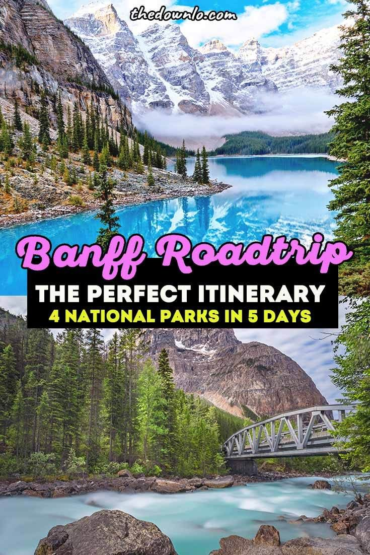 Map Of St Mary, Canada To Banff, Canada The Perfect Banff Itinerary   A Western Canada Road Trip | Canada