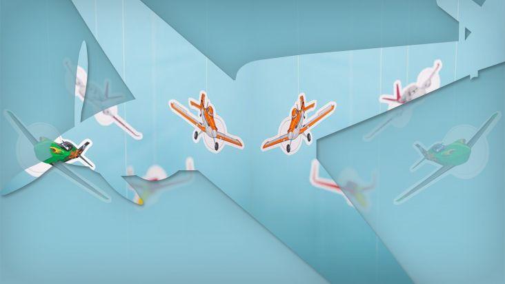Intrépidos móviles de los personajes de Aviones