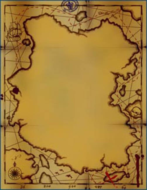 Pirate Map Invitations
