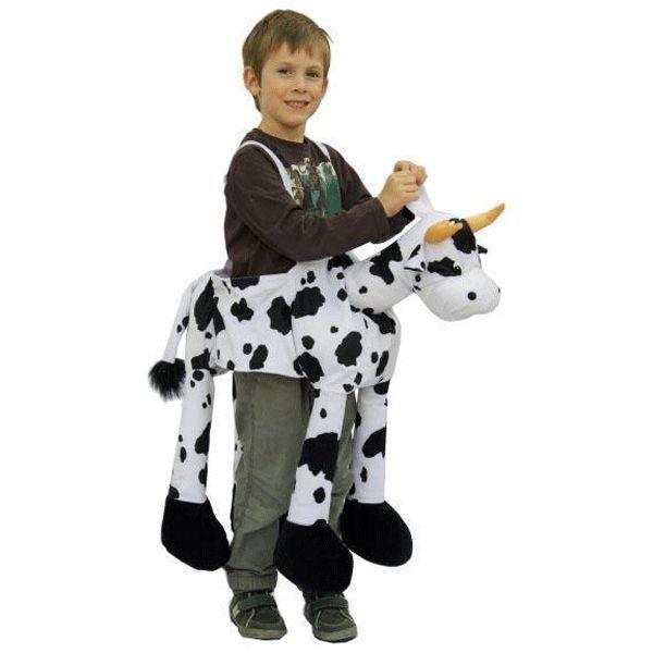 Koeien instap kostuum voor kinderen. Pluche koeien instap pak, geschikt voor jongens en meiden. One size kostuum, geschikt voor kinderen van ongeveer 5 tot 8 jaar