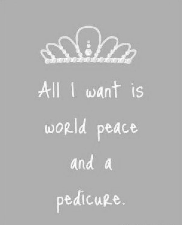 world peace & pedicure