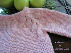 Jersey de bebé con dibujo en ranglan cuyo patrón original lo encontrareis en la…