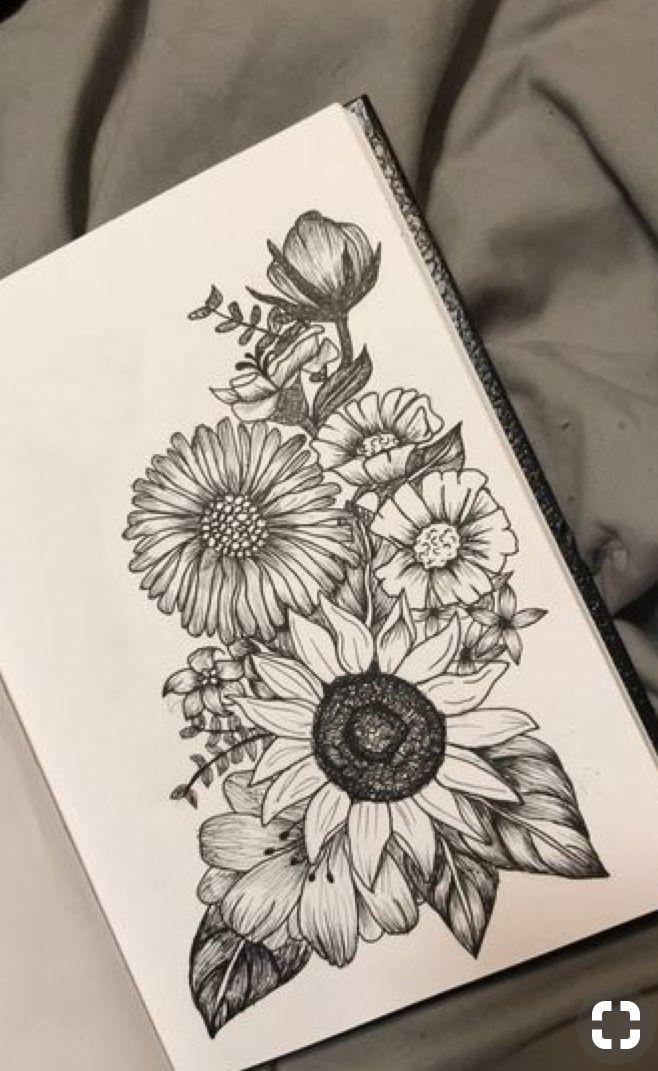 Cuaderno V Tattoos Flower Drawing Pencil Art Drawings