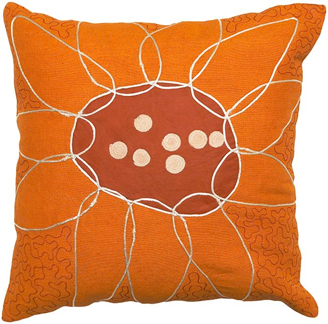 Orange Sunflower Pillow Cover