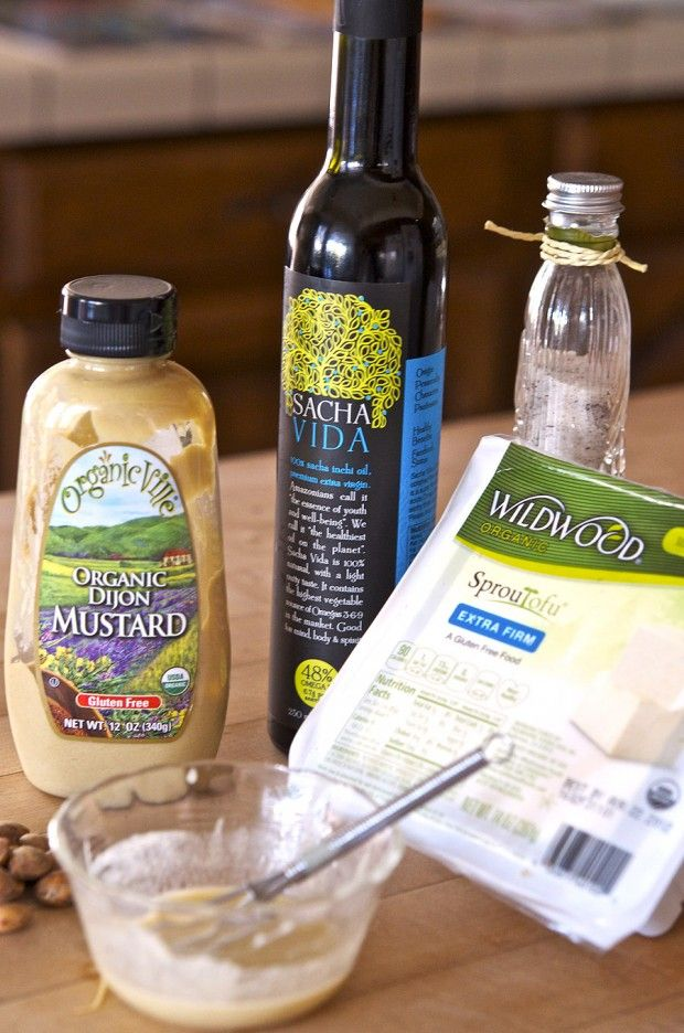 Sacha Inchi Crusted Lemon Mustard Tofu Recipe | Vegan Cuts