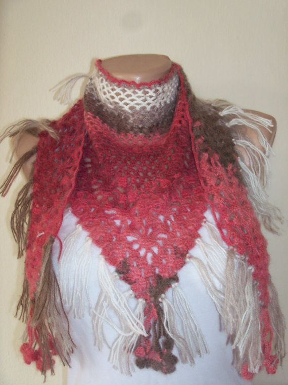 romantic and cool feel grey and pink shawl scarf by colourfulrose, $25.50