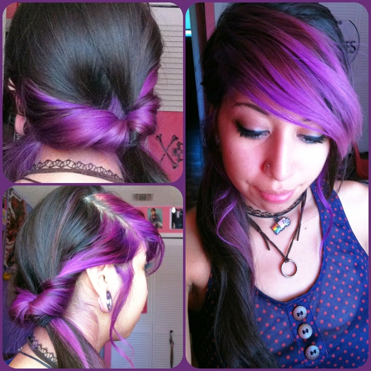 DIY side pony tail twist. or whatever it's called. .-.: Hair Styles Colors, Side Ponies, Tail Twists, Girly Stuff, Pony Tails, Diy Side, Side Pony, Ponies Tail