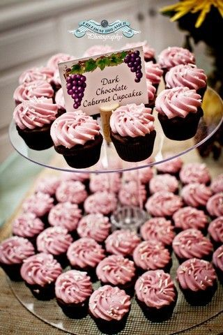 Cupcakes at a Wine and Cheese tasting party #winecheese #cupcakes