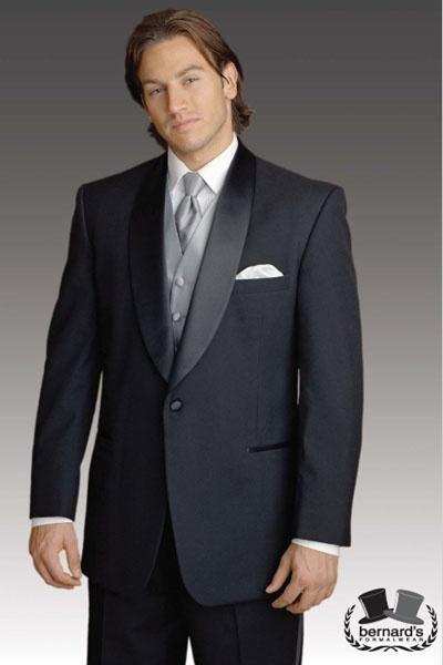 -classic 1 button shawl #tuxedo  www.bernardsformalwear.com #bernardstux