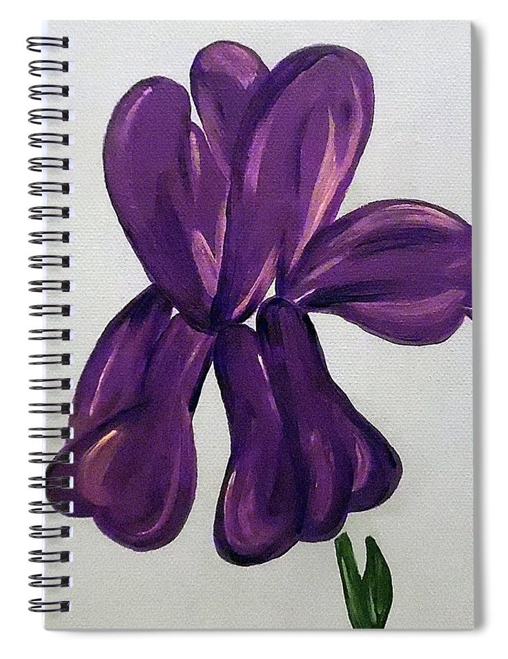 Indigo Iris #Notebook by Jilian Cramb #journaling #giftsforher #flowerlovers #journal #iris #purple #diary #writers #backtoschool