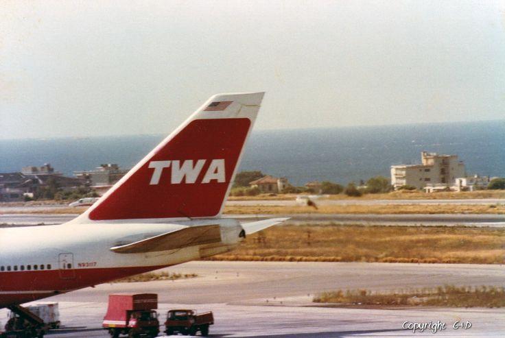 Trans World Airlines (TWA) Boeing 747-131 [N93117], 1983 Athens Hellinikon airport