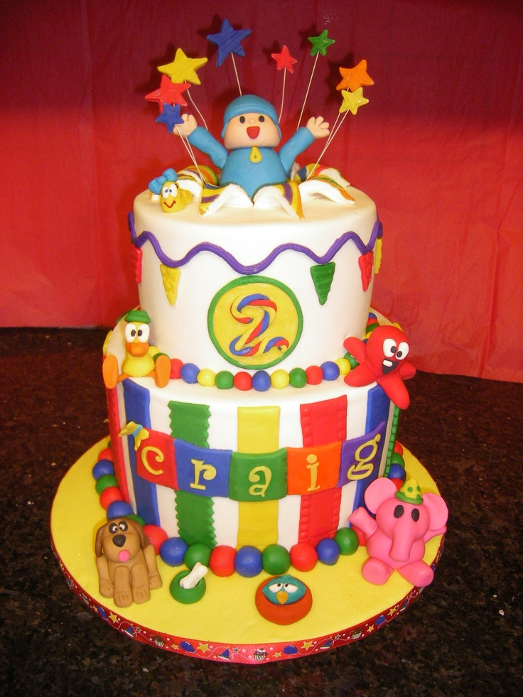 Cake Decorating Fondant Characters : 25 best images about Pocoyo Cakes on Pinterest Birthday ...