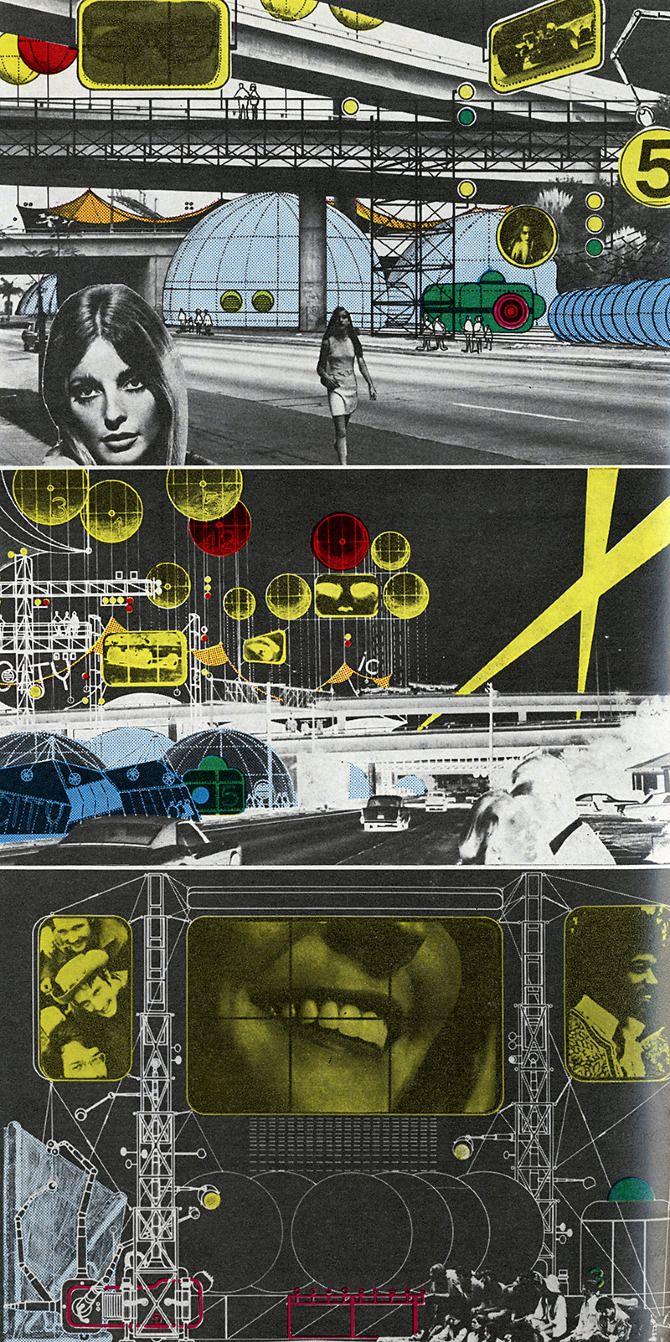 « Archigram ou un graphisme d'utilité utopique. Groupe d'architectes britanniques emblématique des sixties, Archigram introduit le graphisme au cœur de la cité dans des projets où la culture vernaculaire et pop, des pulps aux comics, révolutionne les concepts urbanistiques et environnementaux. »