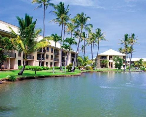 Wyndham Kauai Beach Villas Lagoon and Exterior