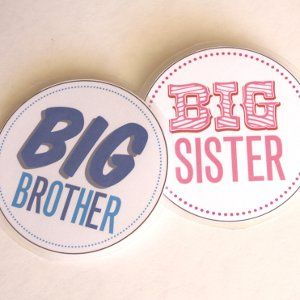 Printable Big Brother and Sister Badges to foster some sibling love!