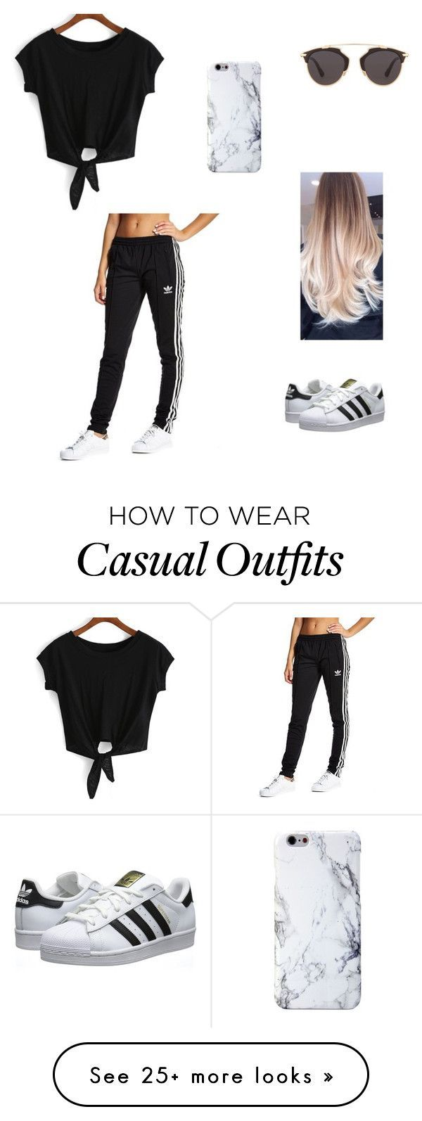 Casual by pauolivaress on Polyvore featuring adidas Originals and Christian  Dior
