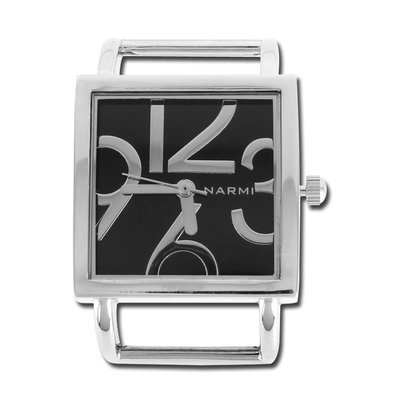 1″ Black Square Modern Watch Face
