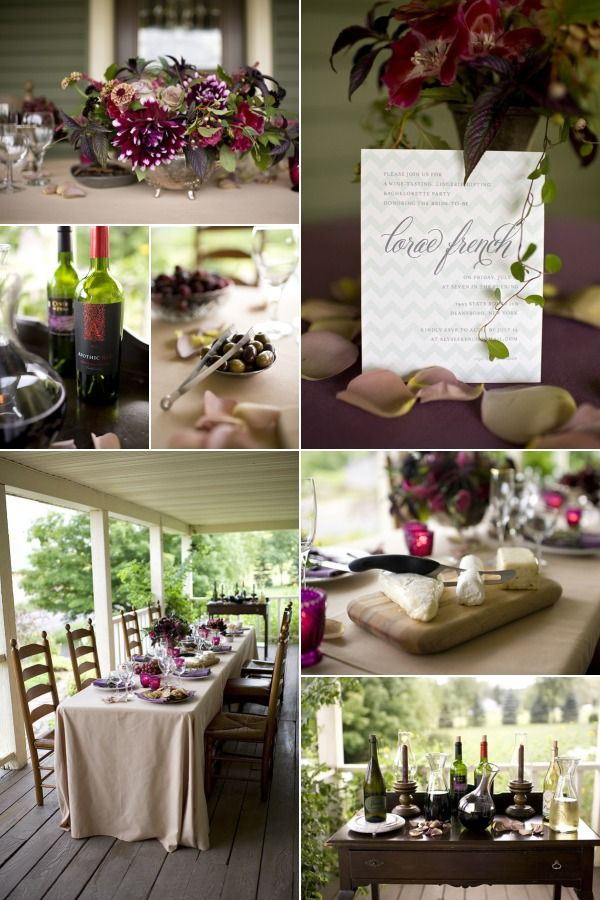 Wine Tasting - Bridal Shower. Love this also for reception