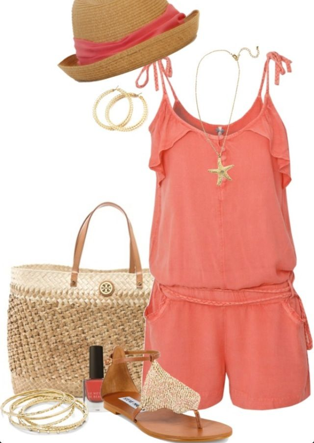 Beach outfit........love the romper