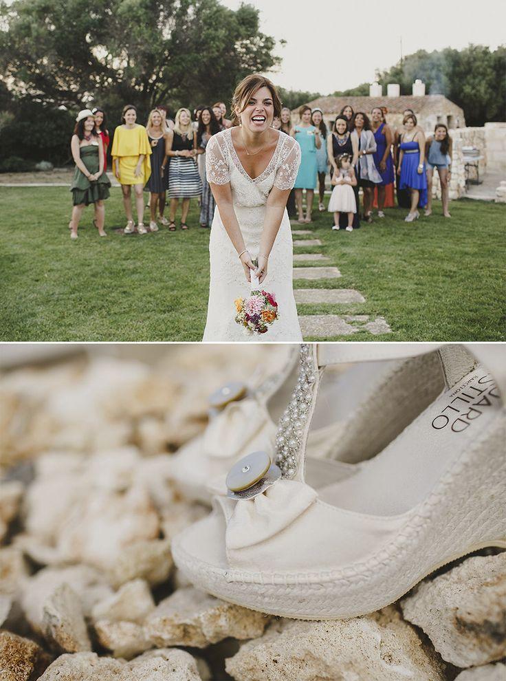Novia Vestido Jenny Packham Alpargatas Eduard Castillo Barcelona cuñas sandalias chic
