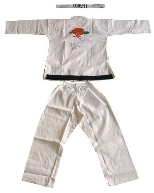 Ralph Macchio Signed Karate Kid Gi Uniform Inscribed Wax On, Wax Off JSA