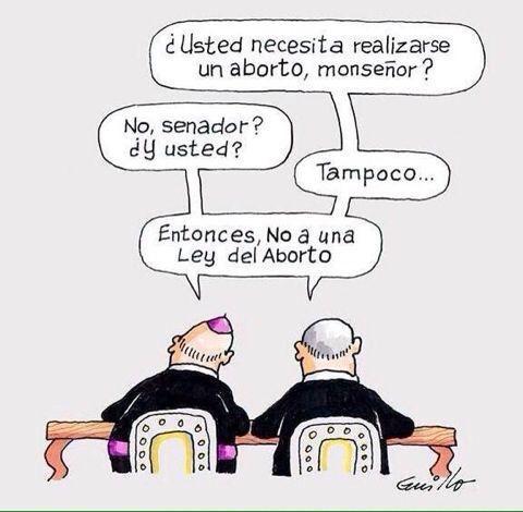 Chile está discutiendo de la #leyDeAborto, y esto no creo esté alejado de la realidad ...
