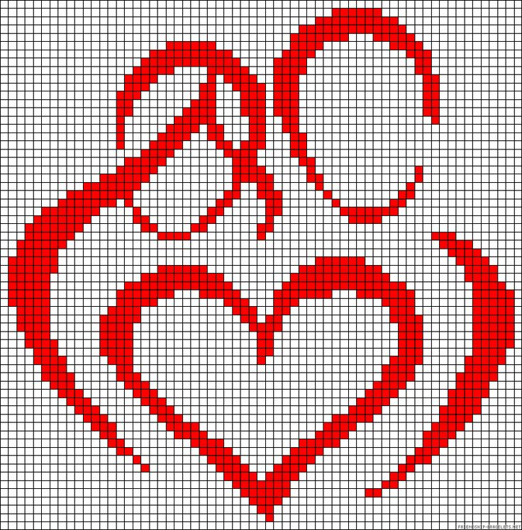 Heart love perler bead pattern