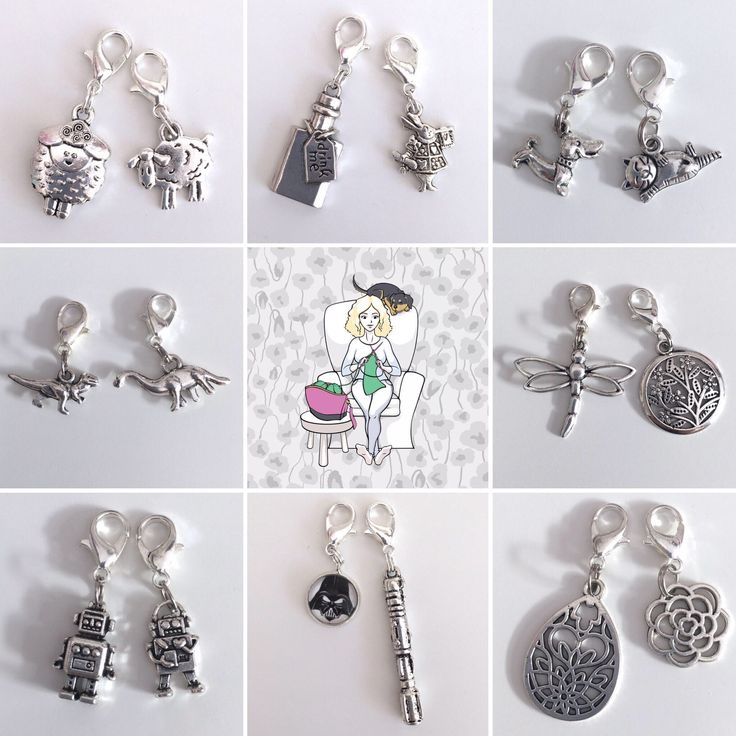 Charming Progress Keepers, Removable Stitch Markers by MoAndMi on Etsy https://www.etsy.com/au/listing/527155493/charming-progress-keepers-removable