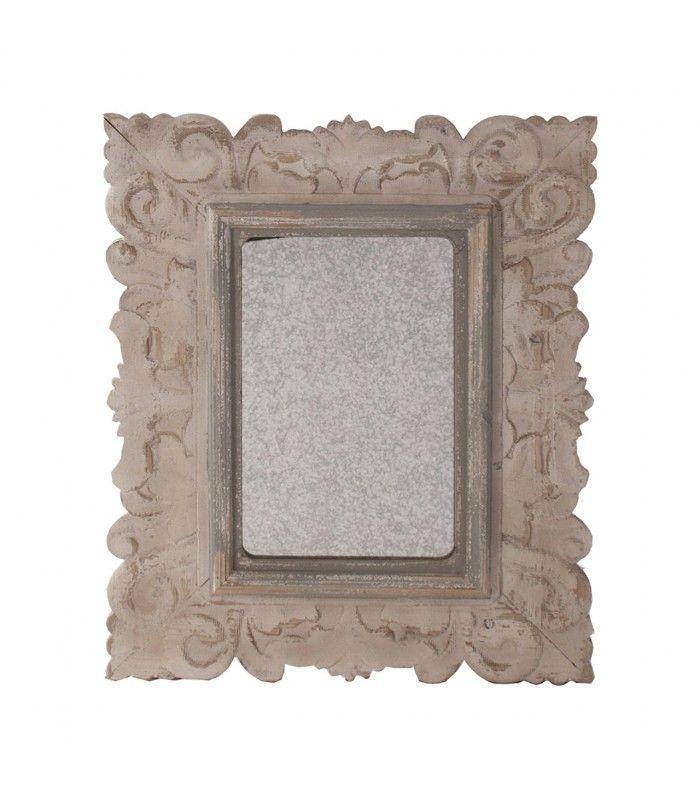 Espelho retangular branco clássico idade.