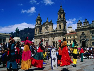 Street Theatre Performance in the Plaza De Bolivar, Bogota, Colombia