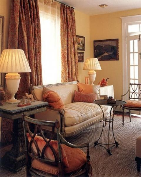 The Pantone Color For 2012 Orange Impacts Gently This Elegantly Cozy Space Victoria Neale Interiors Washington DC